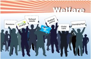 What makes up the Welfare State?